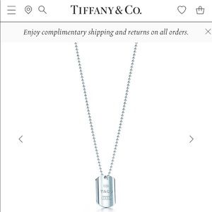 Tiffany & Co 1837 Dog Tag Necklace